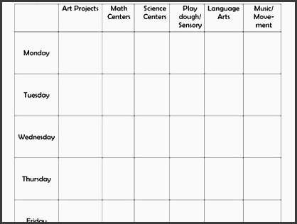 weekly lesson plan 8 free for word excel pdf