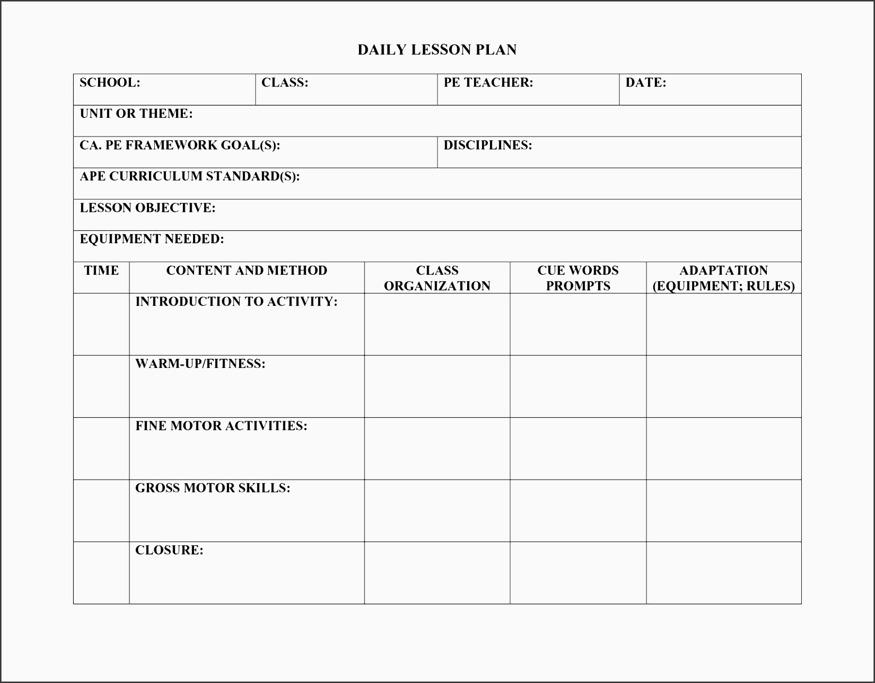 lesson plan template daily visual daily lesson plan template high school art lesson plan template daily