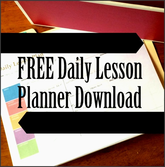 free daily homeschool lesson planner