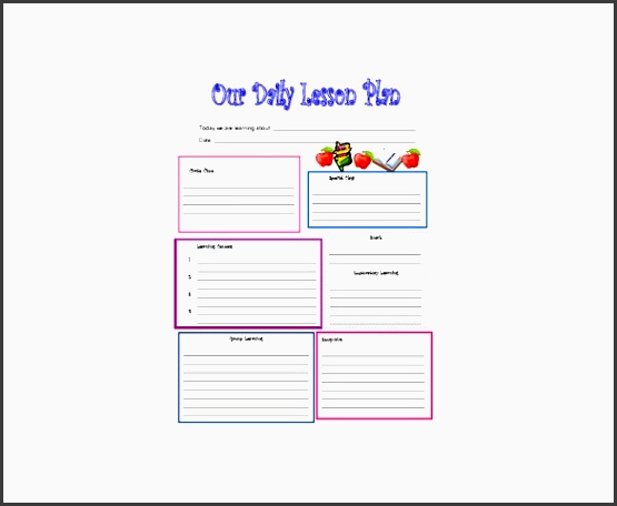 daily lesson plan template word document - 7 daily lesson planner in excel sampletemplatess