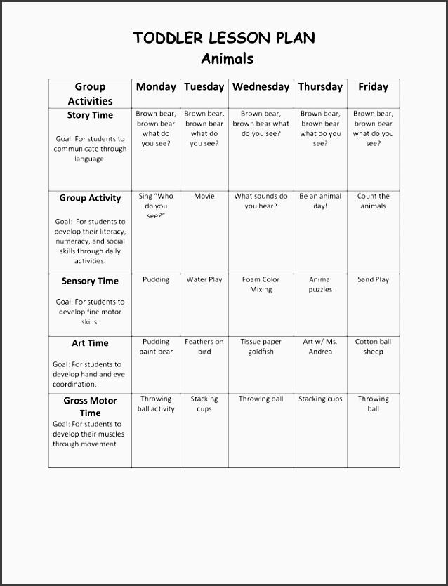 printable lesson plan template nuttin but preschool sample w
