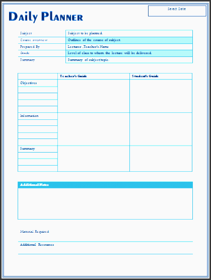 Downloadable Lesson Plan Template #a9dc007b0c50 ...
