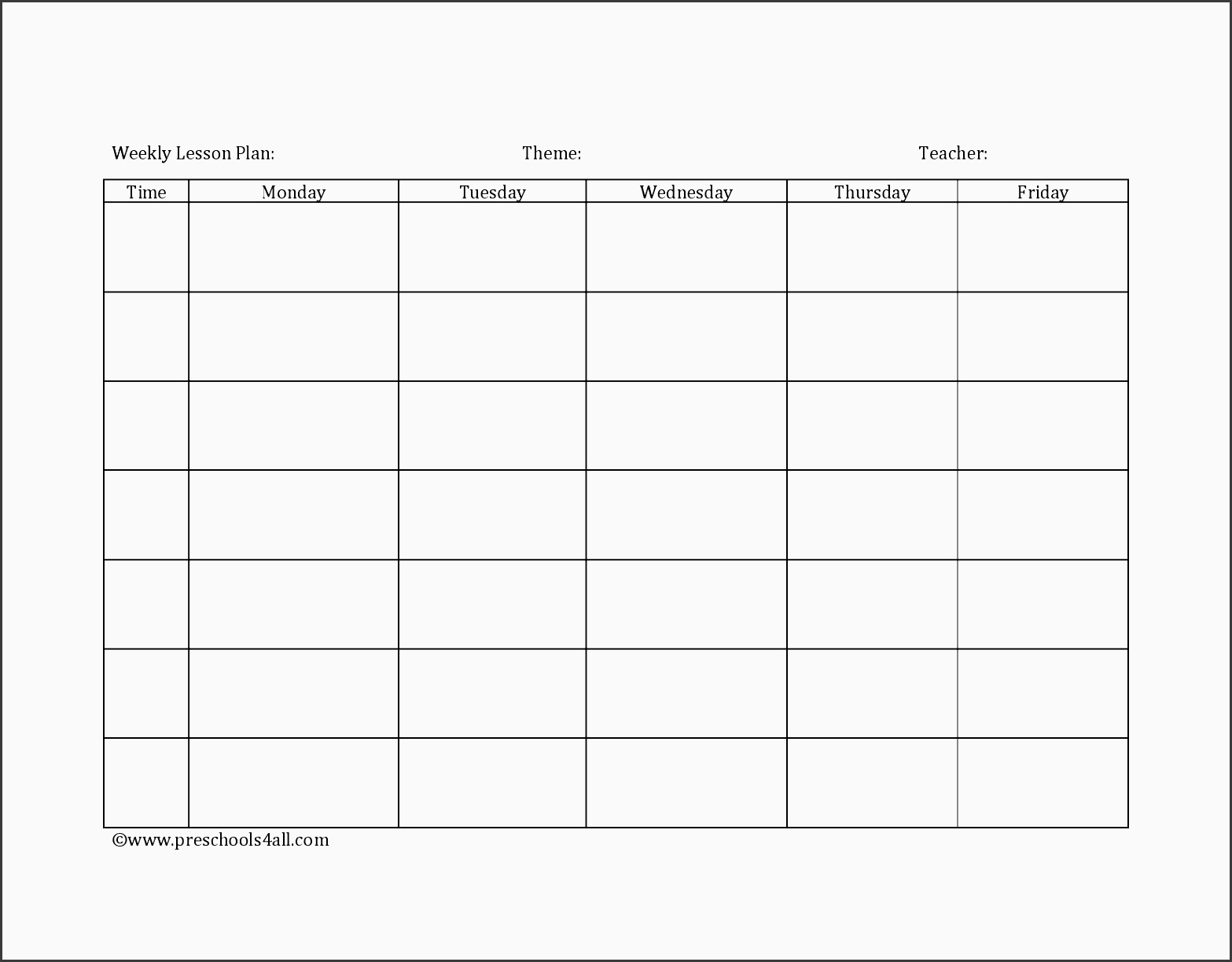 lesson plan book template printable weekly lesson plan lesson plan book template printable