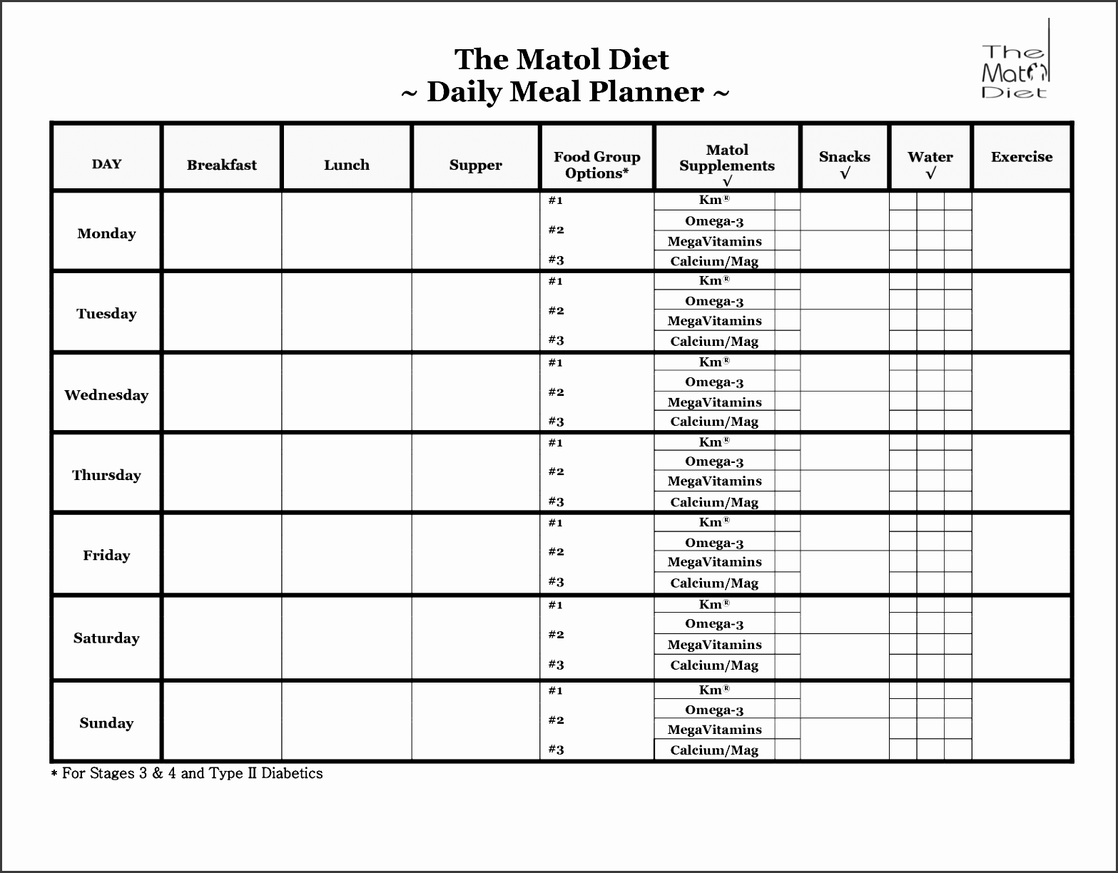 Diabetes Meal Plans Free 16 Meal Planning Charts Helpful Meal
