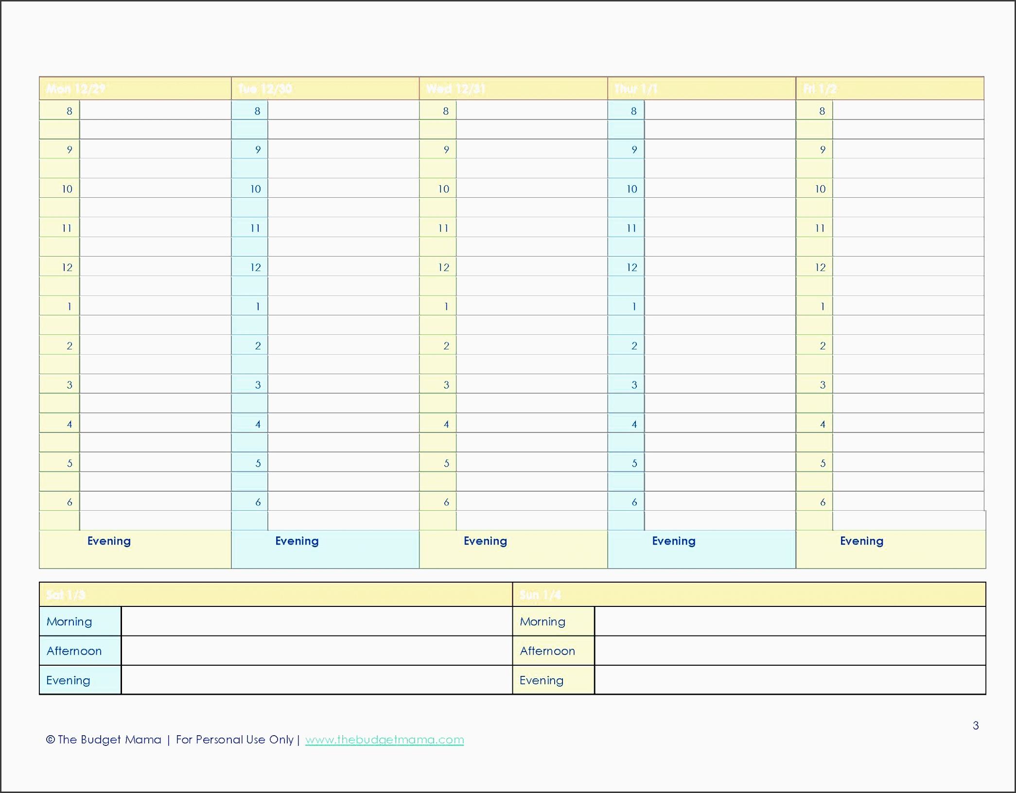 printable agenda free 2015 planner printables