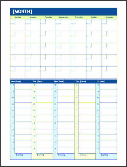 weekly planning calendar template monthly and weekly planning calendar office templates ideas