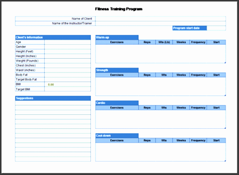 plan workouts and keep track of weight loss with microsoft office microsoft office program templates