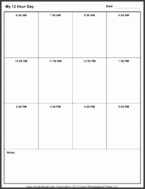 daily schedule printable