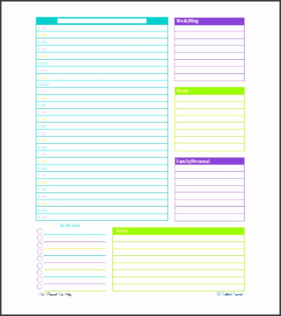 free personalized daily planner pdf format