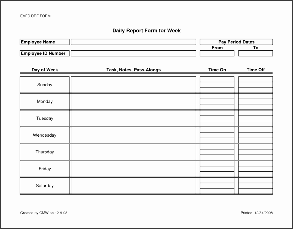 Child Care Daily Report Template And Daily Activity Report Template Word