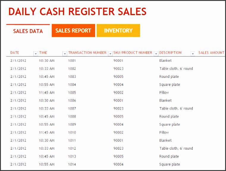 daily sales report format calendar june