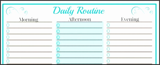dailyroutine daily routine printable