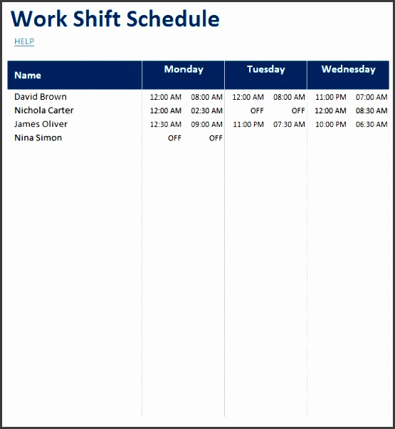 daily planner excel templates