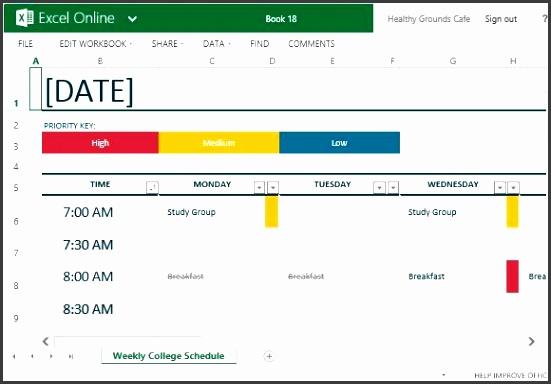 presentation schedule template time schedule