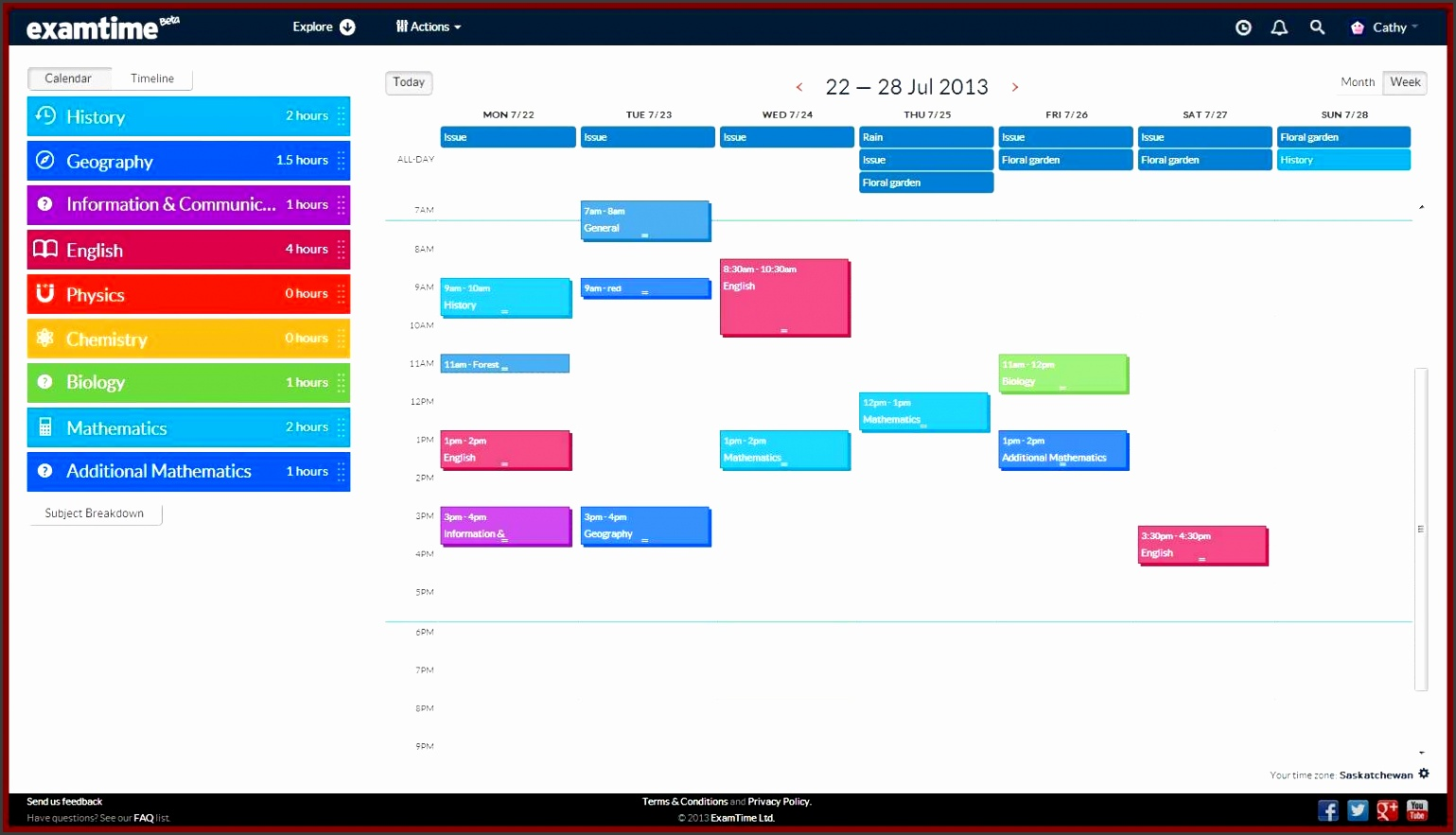 revision plan template 30 4 2013 16 51 33 studyplan create a revision timetable with examtime s new study tool