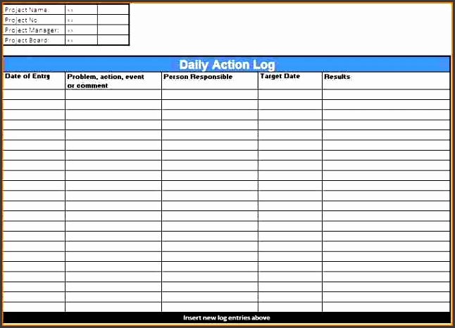 ms excel daily action log template word excel this section provides an overview of creating and maintaining action items and describes how to