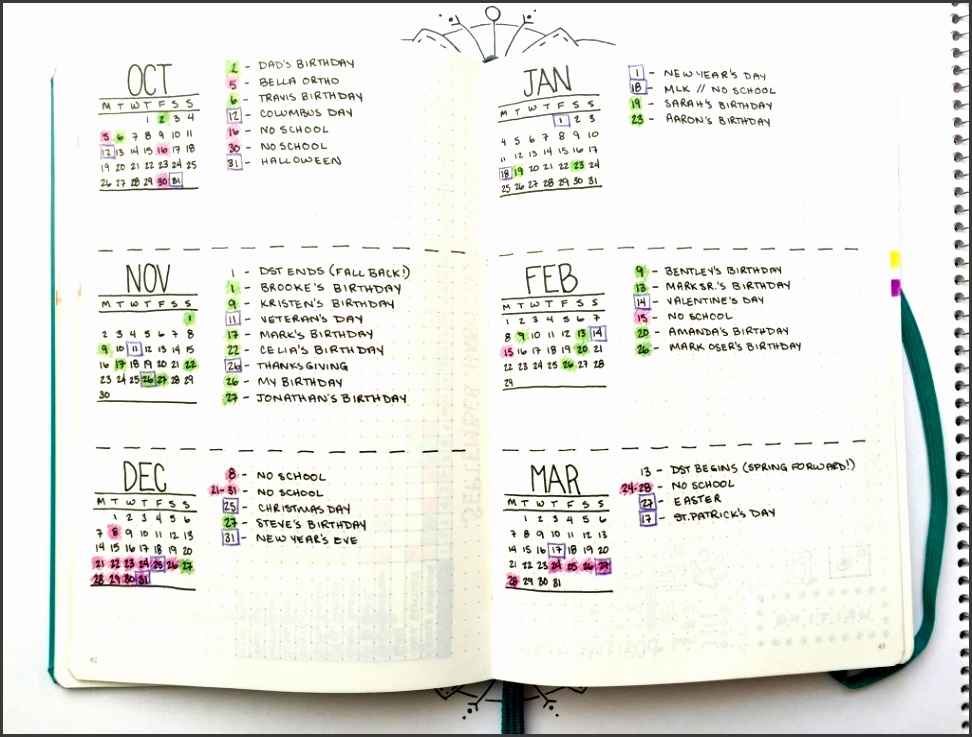 bohoberry bullet journal