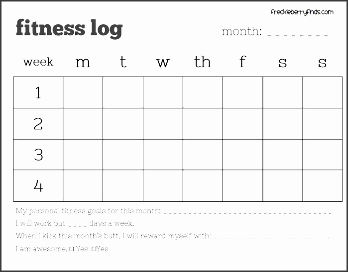 free monthly fitness log printable this site has tons of weight loss freebies including