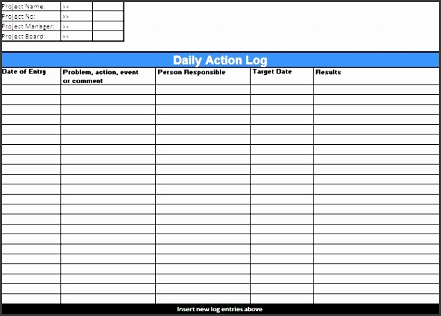 10 daily work log template for professional use