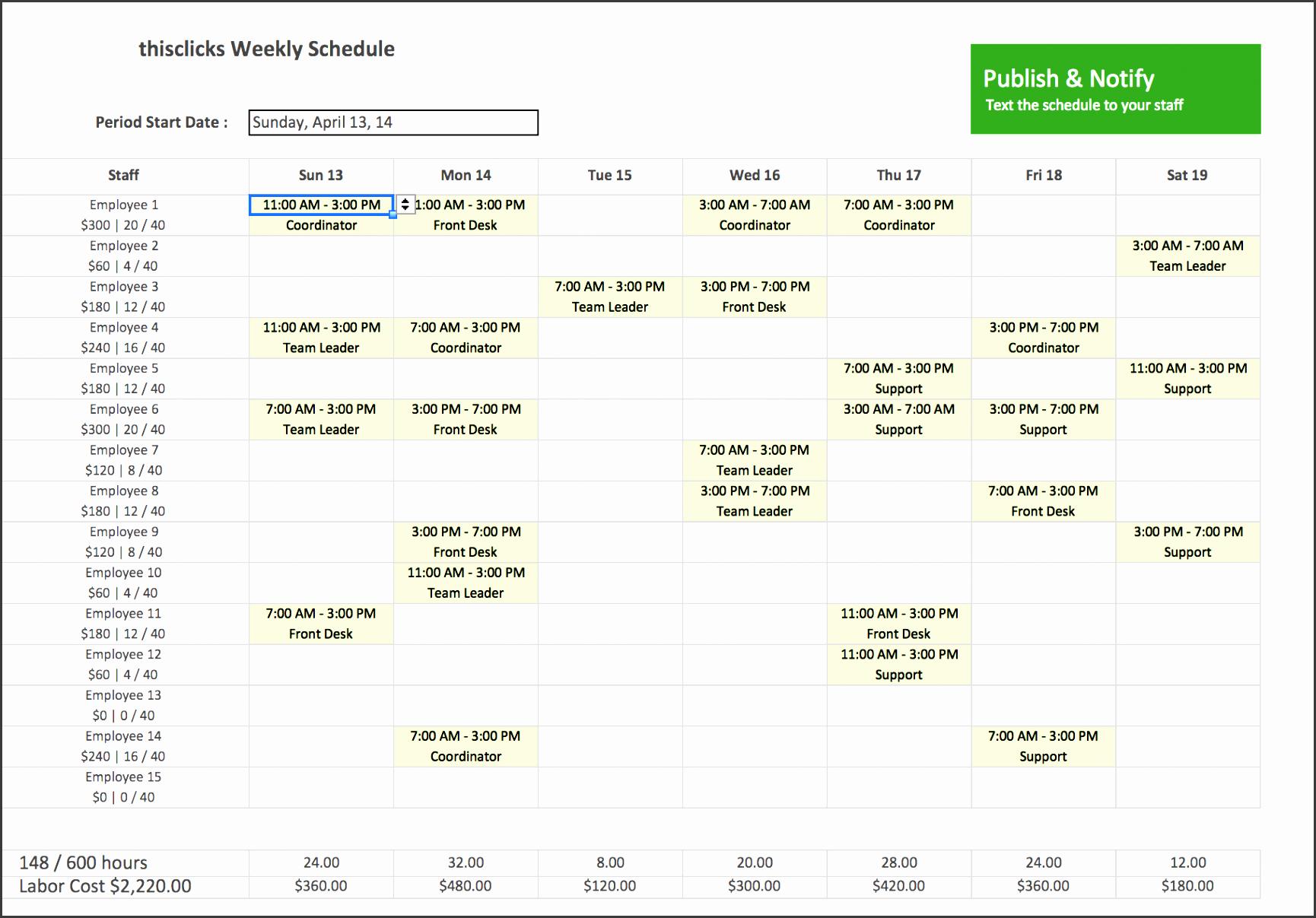 employee schedule template excel best business template work schedule templates excel l f acf0f9d4ef