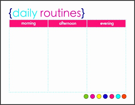 daily schedule templates word