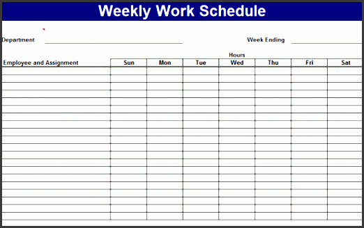work templates schedule form template weekly work schedule schedules templates free