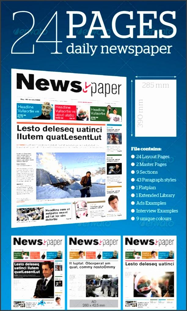 best print newspaper templates in adobe indesign photoshop designsmag