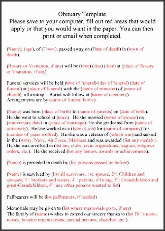 printable obituary template word 02