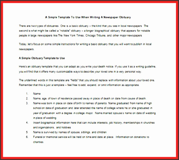 5 death notice template - sampletemplatess