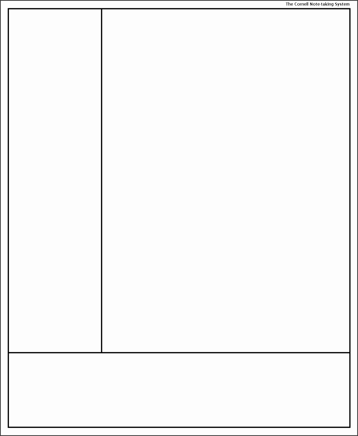 cornell note taking system template template for penultimate note template