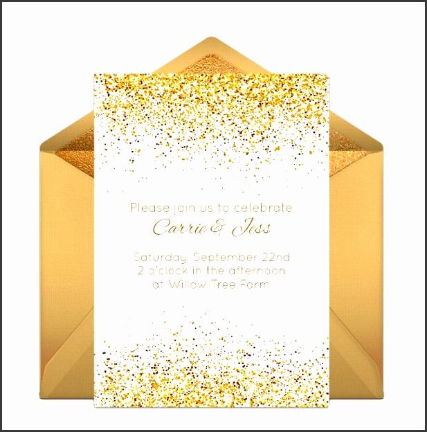 free golden day invitations