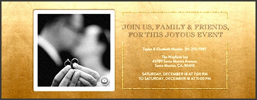 festive gold metallic invitation