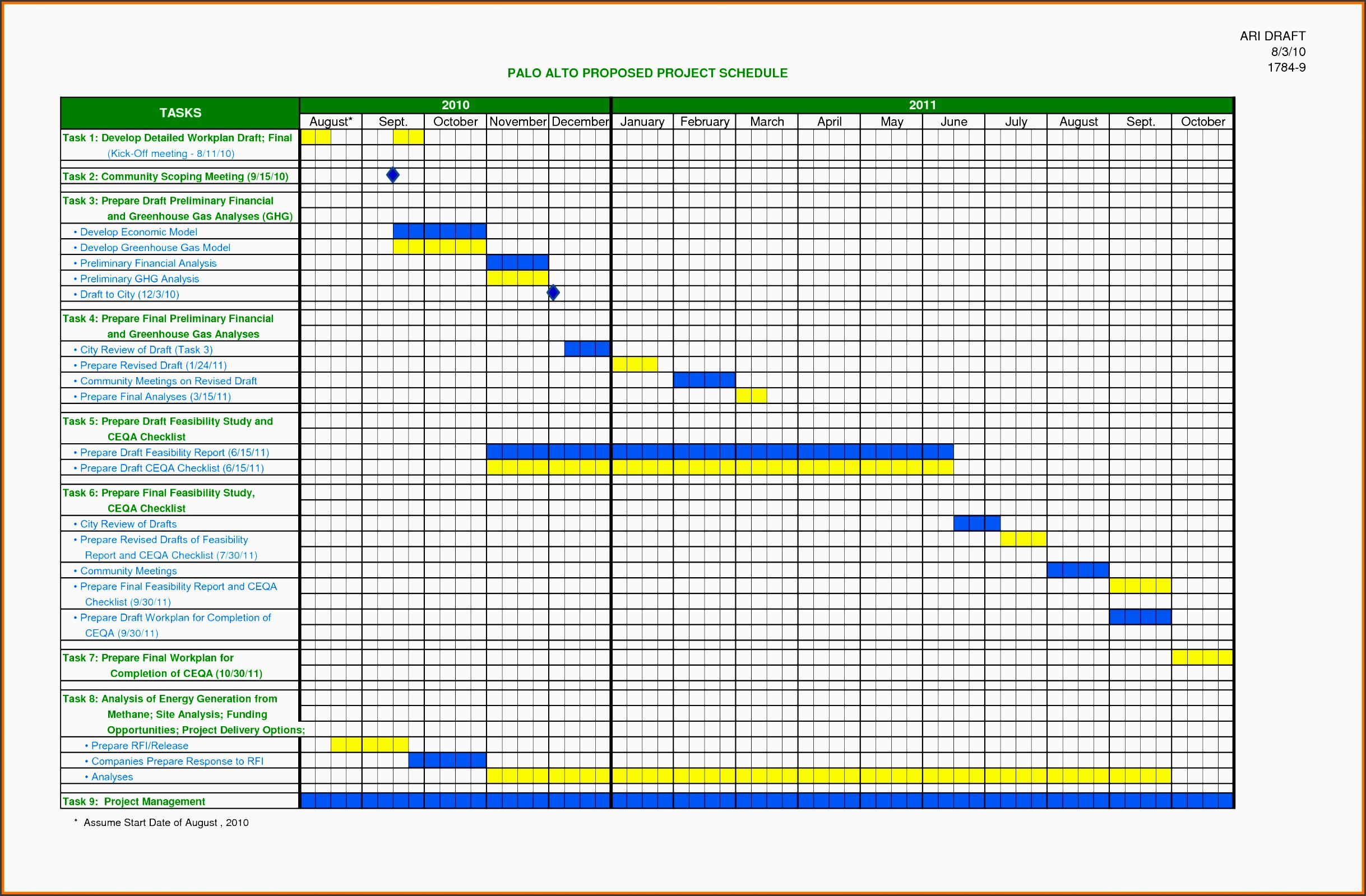 schedule excel templates