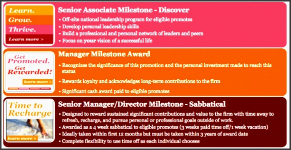 and takes into consideration what people may value most at that phase of their career here are the available milestones for eligible new promotes