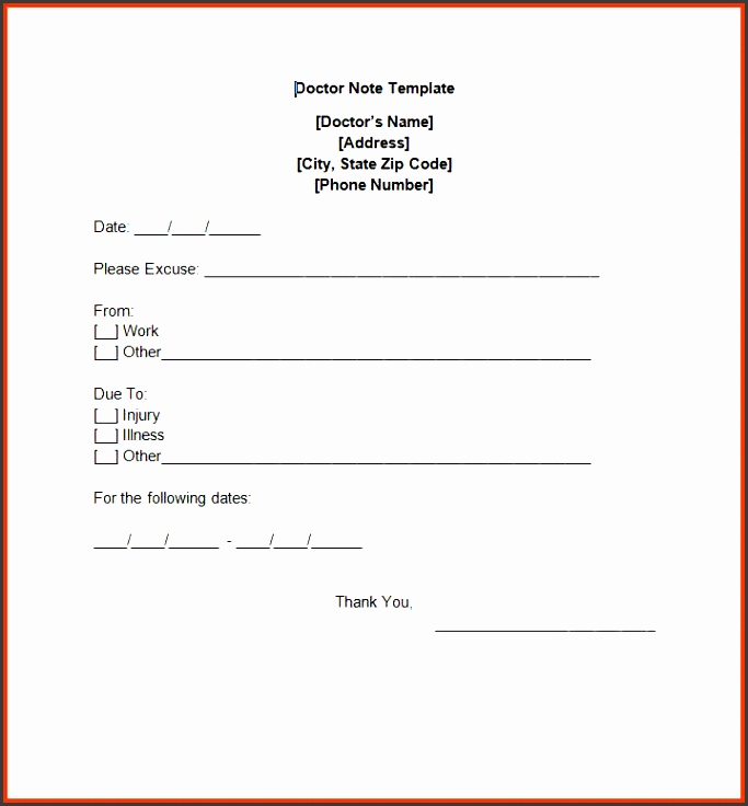 dr note template free doctor note templates dr note template