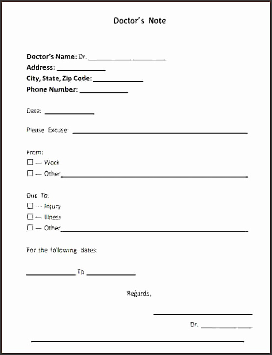 printable doctors notes fake doctors note template