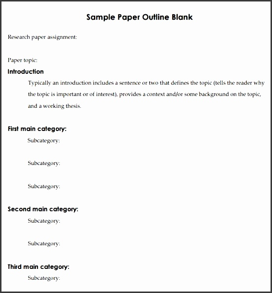 research paper outline template able