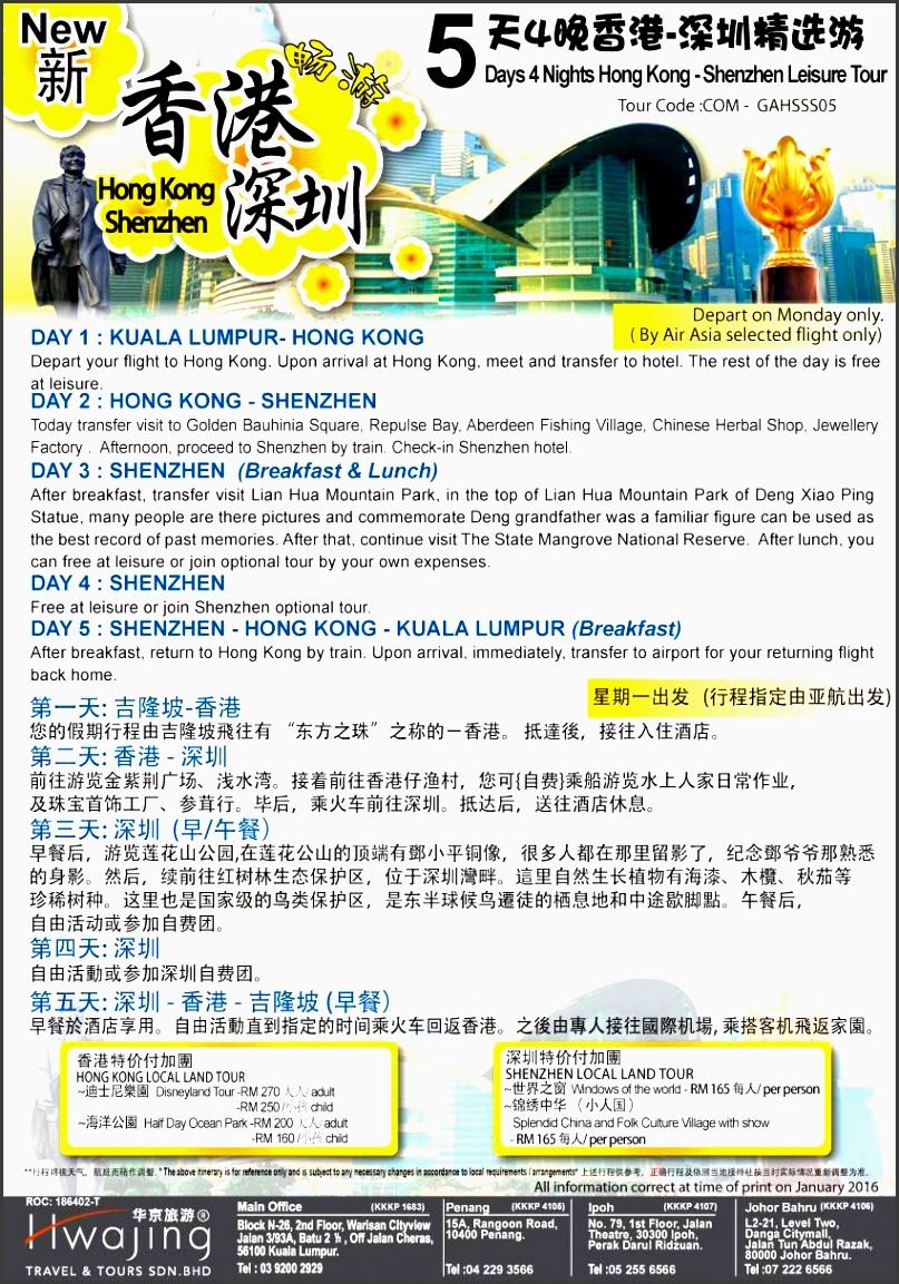description itinerary pdf