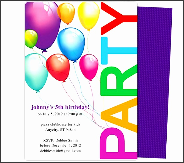 free birthday invitation templates kids kids party invite template 23 best kids birthday party invitation free