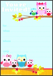 owl birthday cards to print for free click on the free printable owl party invite