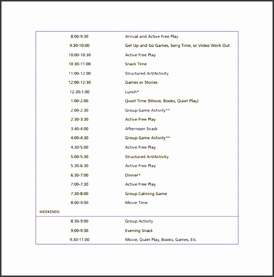 daily schedule template 14 free documents in pdf word