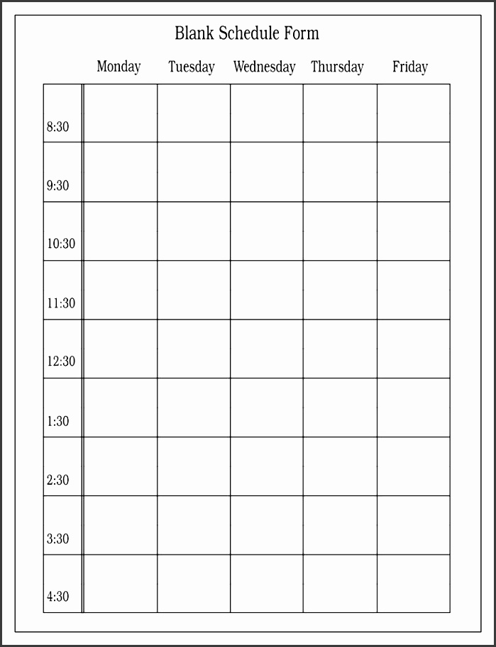 free blank class roster printable blank schedule form