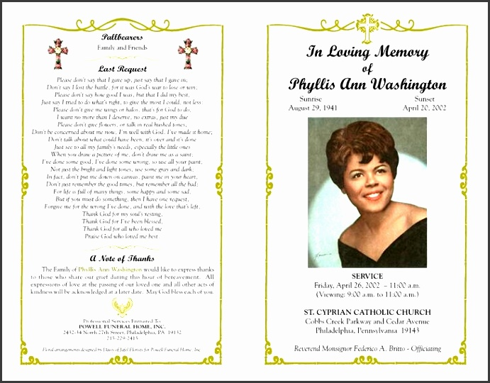 funeral program templates free and premium templates inside free printable funeral