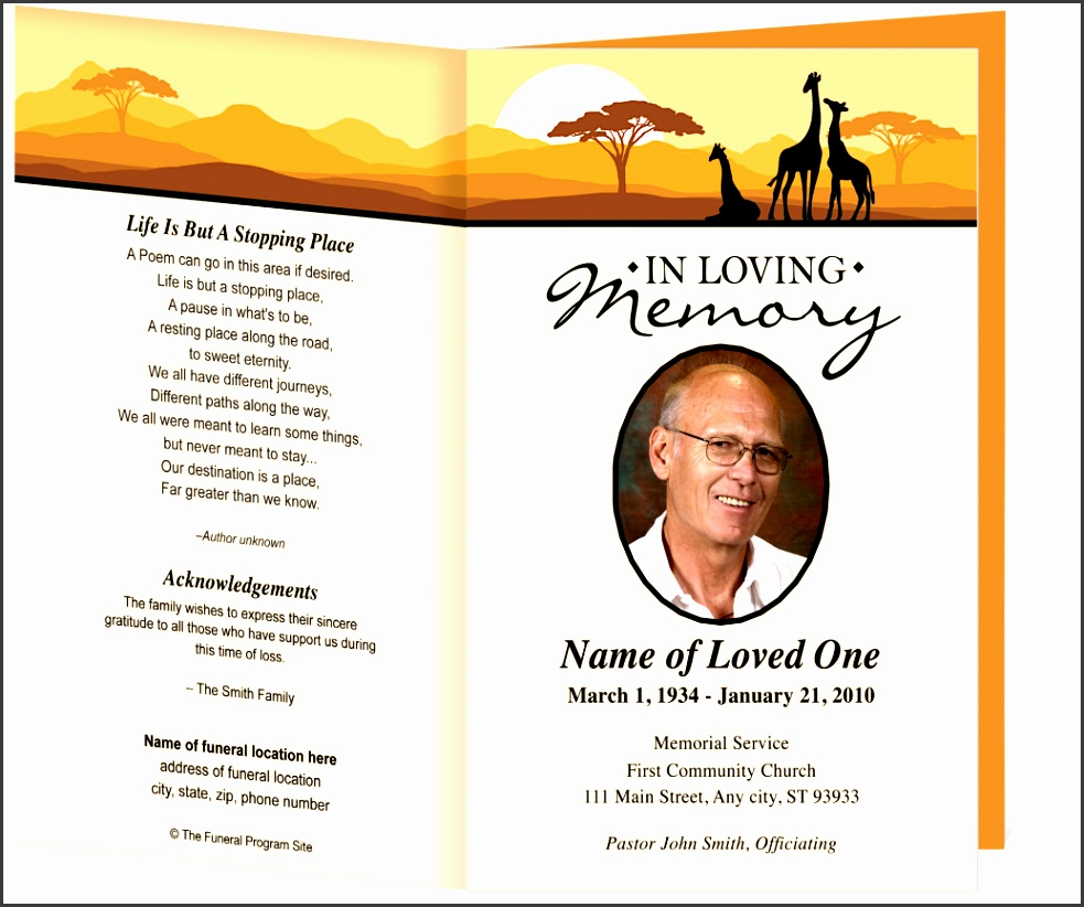 best of funeral obituary template full size