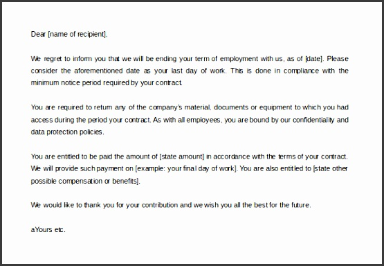 resourcesable the employee contract termination letter template sample is a simple concise and to the point sample contract termination