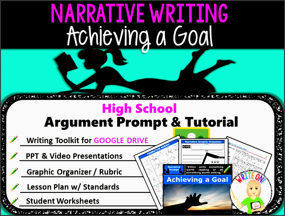 narrative writing lesson prompt digital resource achieving a goal high school