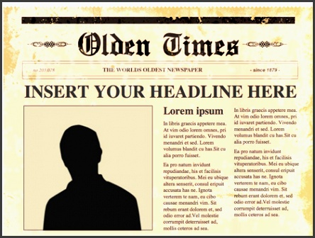 free newspaper template powerpoint editable powerpoint newspapers