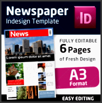 indesign newspaper template in format a3
