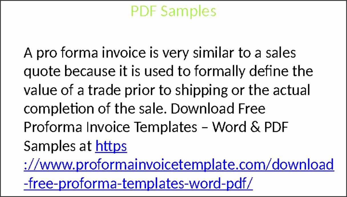 proforma invoice templates