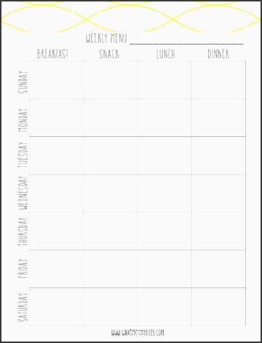 Meal Planner Template Online | printable planner template